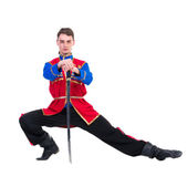 Russian cossack dance — Stock Photo