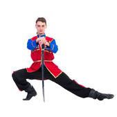 Russian cossack dance — Stock Photo