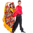 Gypsy flamenco dancer couple — Stock Photo #46498349