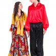 Gypsy flamenco dancer couple — Stock Photo #46498369