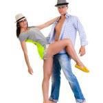 elegante jonge paar dansen — Stockfoto #48545763