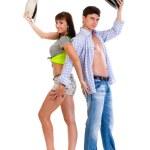elegante jonge paar dansen — Stockfoto #48545895
