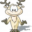 Cute Reindeer cartoon - Stock Vector