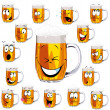 Mug fresh beer cartoon — Stock Vector