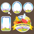 Royalty-Free Stock Vector: Stickers and labels with landscape