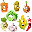 Funny vegetable and spice cartoon — Stock Vector