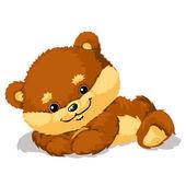 Illustration of cute Bear — Stock Vector