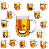 Mug fresh beer cartoon — Stock Vector