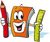 Funny exercise book cartoon — Stock Vector
