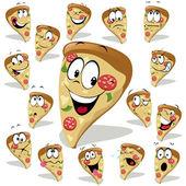 Pizza cartoon illustration — Stock Vector