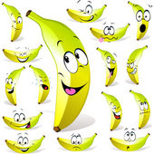 Banana cartoon — Stock Vector