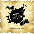 Merry christmas everyone — Stock Vector