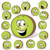 Kiwi fruit cartoon — Stock Vector