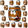 Barrel cartoon — Stock Vector