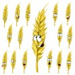 Stock Vector: Wheat ear cartoon