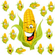 Sweet corn cartoon — Stock Vector