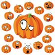 Stock Vector: Pumpkin cartoon