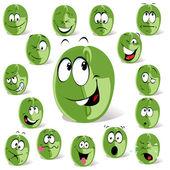 Green coffee bean — Stock Vector