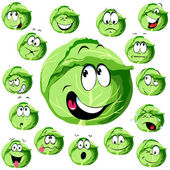 Cabbage cartoon — Stock Vector