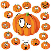 Pumpkin cartoon — Stock Vector