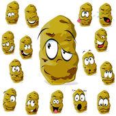 Potato cartoon — Stock Vector