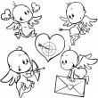 Valentine angels - Stock Vector