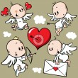 Cute angels - Stock Vector