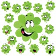 Stock Vector: Four leaf clover