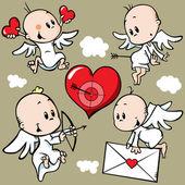 Anjos bonitos — Vetorial Stock
