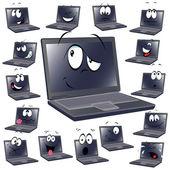 Laptop cartoon — Stockvektor