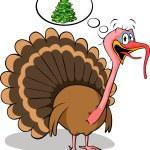 Fat turkey do not like christmas — Stock Vector #15677259