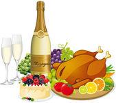 Banquete festivo — Vector de stock