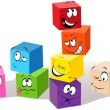 Colorful childish cubes - Image vectorielle