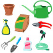 Stock Vector: Gardening equipment