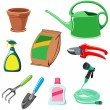 Gardening equipment — Stock Vector