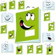 Exercise book cartoon - Stock Vector