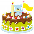 Happy birthday cake — Stock Vector