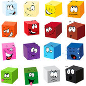 Color cubes — Stock Vector