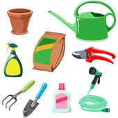 Gardening equipment — Vettoriale Stock