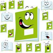 Exercise book cartoon — Stock Vector
