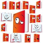 červená kniha kreslený — Stock vektor