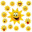 Happy sun - Stock Vector