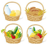 Baskets — Stock Vector