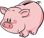 Pig moneybox — Stock Vector