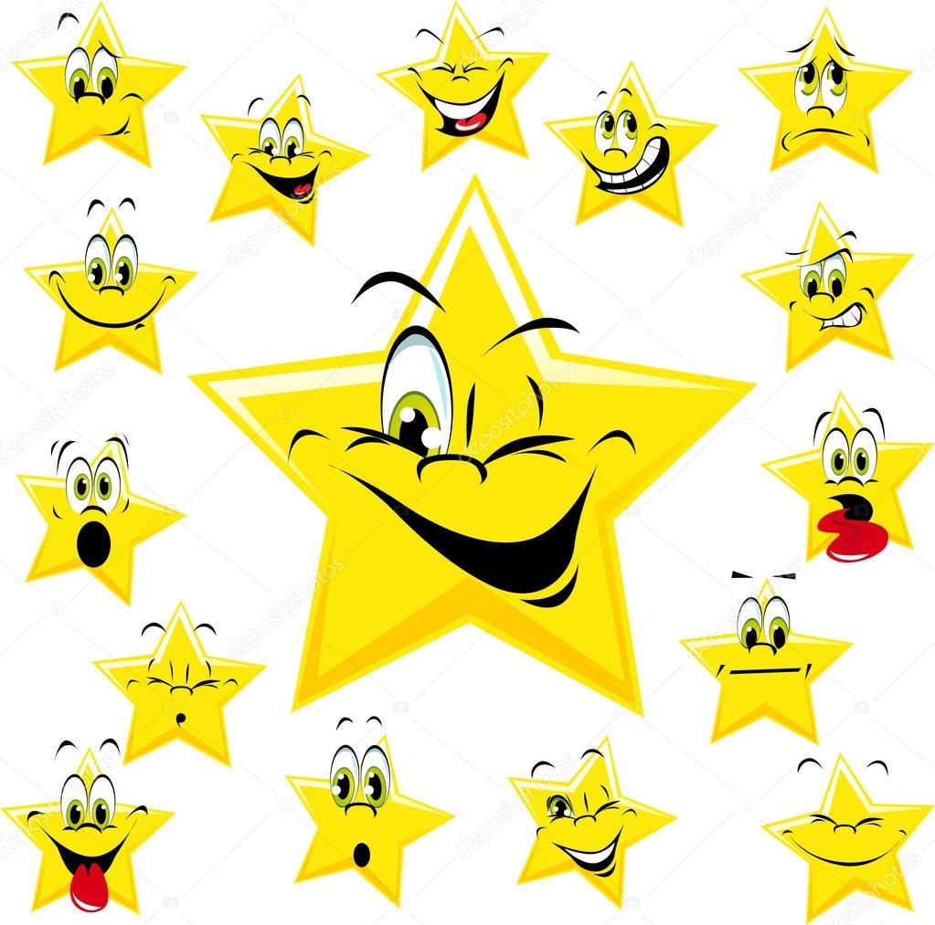 黄色星星 — 图库矢量图像08