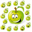 Royalty-Free Stock Vector Image: Green apple