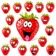 Strawberry cartoon - Stock Vector