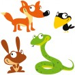 Vector forest animals — Stock Vector