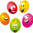 Stock Vector: Happy easter eggs