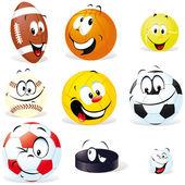 Sport balls isoletad — Stock Vector